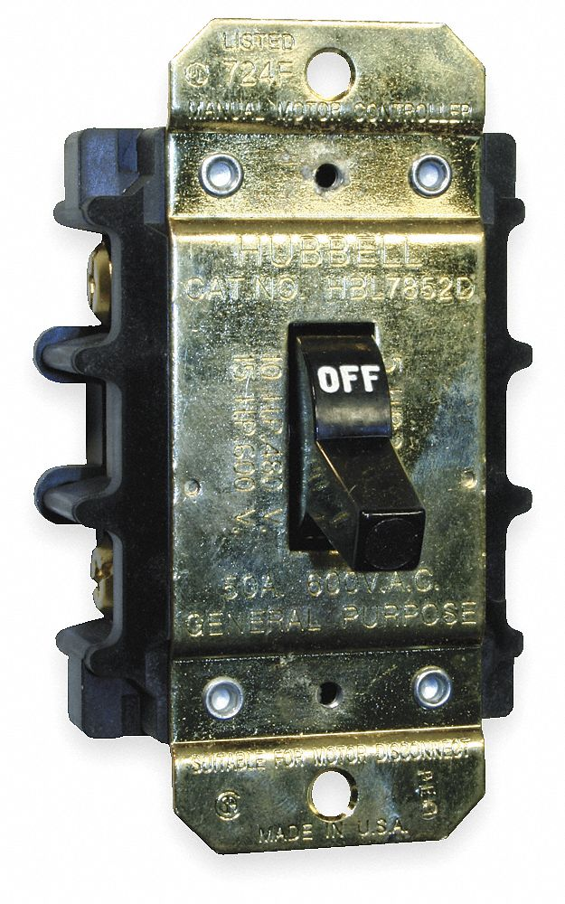 Hubbell Wiring Device Kellems Manual Motor Switch 40 Amps