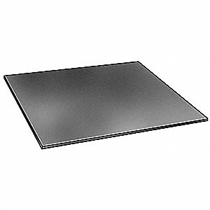 Rubber,SBR,1/2 In Thick,12 x 24 In,Black
