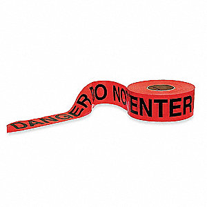 Barricade Tape,Red/Black,1000 ft x 3 In