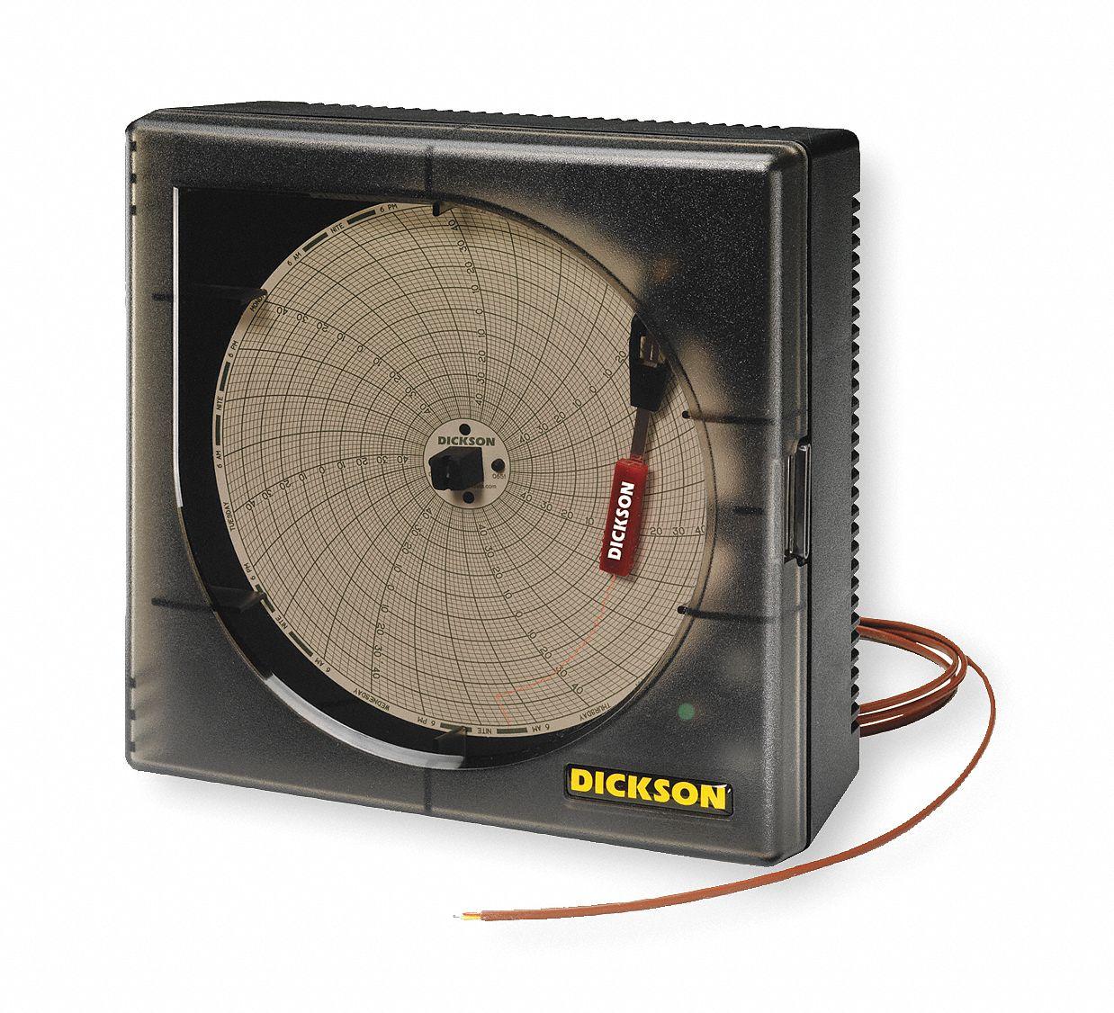 4 20ma Digital Chart Recorder : Dickson circular chart recorder temperature in nfh