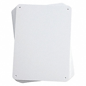 Blank Sign,7-5/8x10-1/4In,WHT,BLK,PK10
