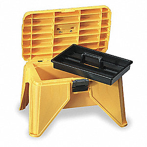 Flambeau Polypropylene Step Stool Tool Box 13 1 4 Quot H X 21