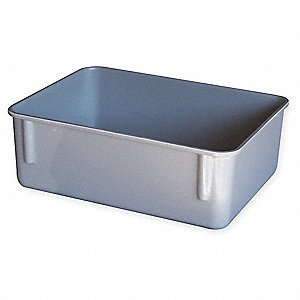 "Nesting Container, Gray, 11-3/4"" Outside Length, 8-3/4"" Outside Width, 4-1/8"" Outside Height"