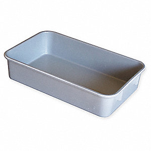 "Nesting Container, Gray, 9-3/4"" Outside Length, 6-1/8"" Outside Width, 2-1/8"" Outside Height"