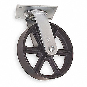5'' Swivel Plate Caster, 1200 lb. Load Rating