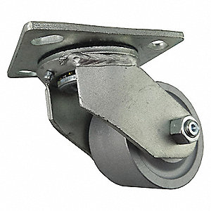 "6"" Swivel Plate Caster, 1200 lb. Load Rating"