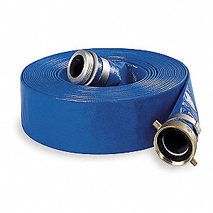 Discharge Hose,3 In x 50 ft,Blue