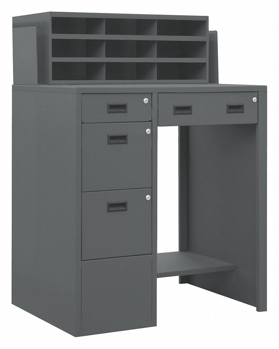 Durham Shop Desk 39 X 55 1 2 X 29 In Gray 1pb42 Sfws