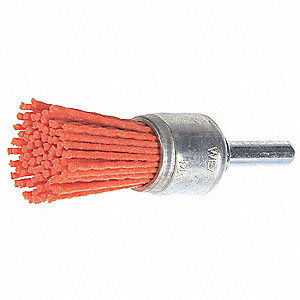 End Brush,3/4 In.,4,500 RPM