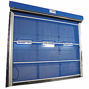 Bug Blocking Mesh Door, Spring Assist Operation, Under Header Mounting, 10 ft. Width, 10 ft. Height