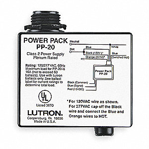 Dimmer Power Pack,120/277VAC,16 Amp