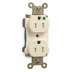 Plug Tail  Receptacle, 15 Amps, 125VAC Voltage, NEMA Configuration: 5-15R, Number of Poles: 2