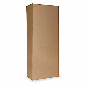 "Shipping Carton, Brown, Inside Width 10"", Inside Length 20"", Inside Depth 50"", 100 lb., 1 EA"
