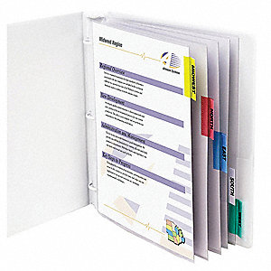 Sheet Protector Set,5 Tab,Clear,PK5