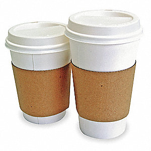 Hot Cup Sleeves,L,Corrugated,Pk1200
