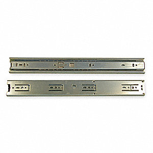 Side Drawer Slide, Non Disconnect, Soft Close, Extension Type: 3/4 Extension, 1 EA