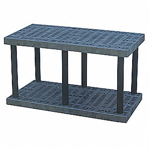 "Bulk Storage Rack, 27"" Height, 48"" Width, 688 lb. Load Capacity, Number of Shelves 2"