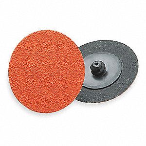 "2"" Locking Sanding Disc, Ceramic Aluminum Oxide, TR, 80 Grit, Medium, Closed Coat, Resin Bonded"