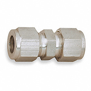 "Metal, 316 Stainless Steel, A-LOK® x A-LOK® Connection Type, 1/4"" Tube Size"
