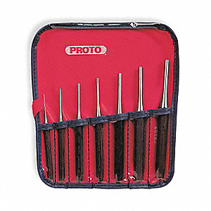 Drive Pin Punch Set,7 Pieces,Steel