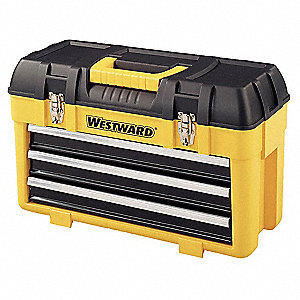 "Portable Tool Chest, Plastic, 23"" Overall Width x 10-1/2"" Overall Depth"