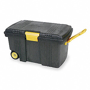 "Rolling Tool Box, High Density Structural Foam, 36-3/4"" Overall Width x 22-3/4"" Overall Depth"