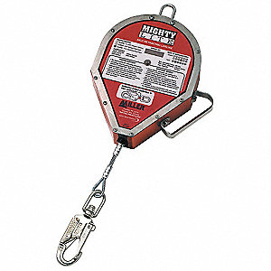 Self-Retracting Lifeline,100ft,Red,400lb