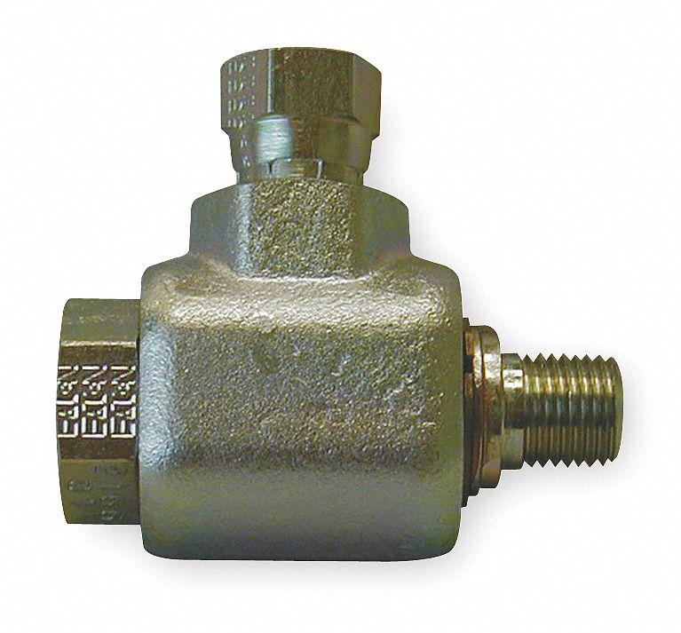 Eaton aeroquip swivel joint in zinc plated steel