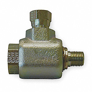 Swivel Joint,1/2 In,Zinc Plated Steel