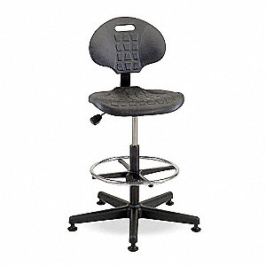 "Black Task Chair, 21 to 31"" Seat Height Range, 300 lb. Weight Capacity"