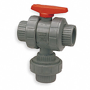 CPVC 3-Way, True Union Ball Valve, Socket x Socket x Socket