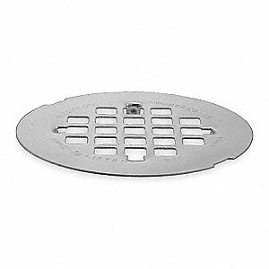 Shower Drain Grid,Snap In,SS