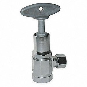 Chrome Plated Loose Key Supply Stop, FNPT Inlet Type, 125 psi