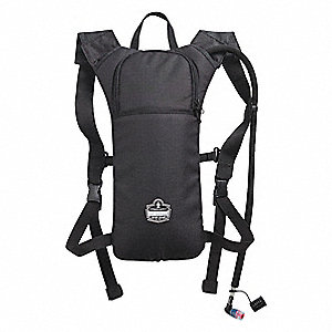 "Black Hydration Pack, 70 oz./2.07L Capacity, Depth 2"", Length 19"", Width 11"""