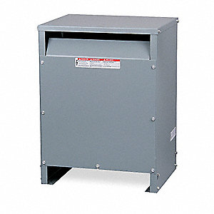 Energy Efficient Transformer, 15kVA VA Rating, 480VAC Input Voltage, 208VAC Wye/120VAC Output Voltag