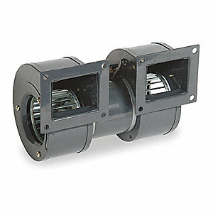 Rectangular OEM Blower With Flange, Voltage 115, 1350 RPM, Wheel Dia. 5-3/16""