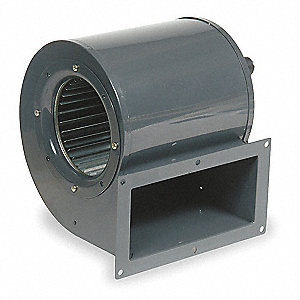 Rectangular OEM Blower With Flange, Voltage 115, 1600 RPM, Wheel Dia. 5-1/8""