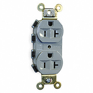Modular Receptacle, 20 Amps, 125VAC Voltage, NEMA Configuration: 5-20R, Number of Poles: 2