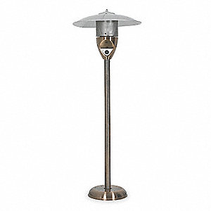 Patio Heater,NG,Copper,8ft. Radius
