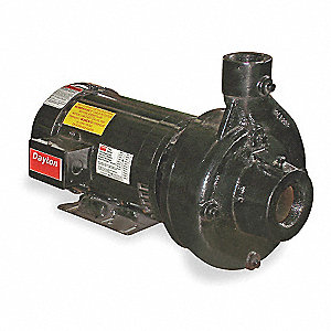 2 HP Straight Center Discharge Pump, 3 Phase, 208-230/460 Voltage, Cast Iron Housing Material
