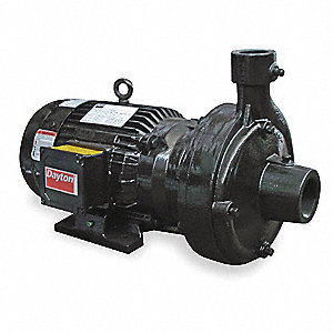 5 HP Straight Center Discharge Pump, 3 Phase, 208-230/460 Voltage, Cast Iron Housing Material