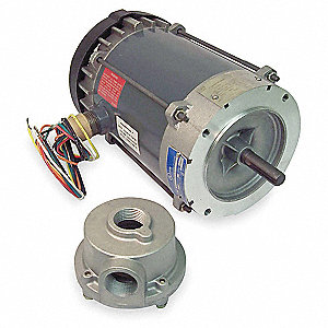 1-1/2 HP Hazardous Location Motor,3-Phase,1755 Nameplate RPM,208-230/460 Voltage,Frame 145TC