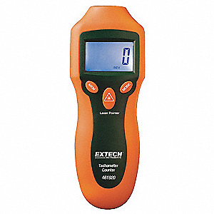 Laser Tachometer,2 to 99,999 rpm
