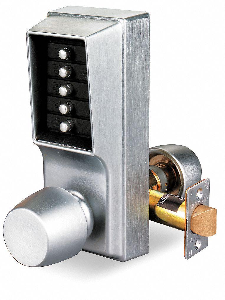 Kaba Mechanical Push Button Lockset Knob Entry None Key