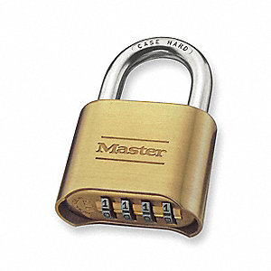 Combination Padlock,Bottom,4 Dial,Silver