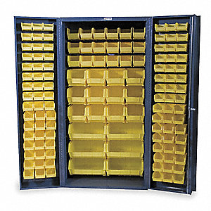 "Bin Cabinet, 72"" Overall Height, 36"" Overall Width, Total Number of Bins 132"
