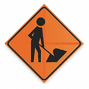 "Symbol, Reflective Vinyl Traffic Sign, Height 36"", Width 36"""