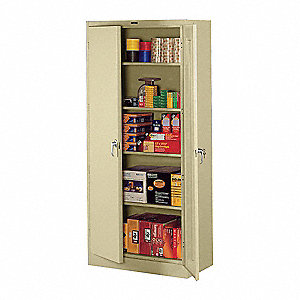 "Storage Cabinet, Sand, 78"" Overall Height, Assembled"