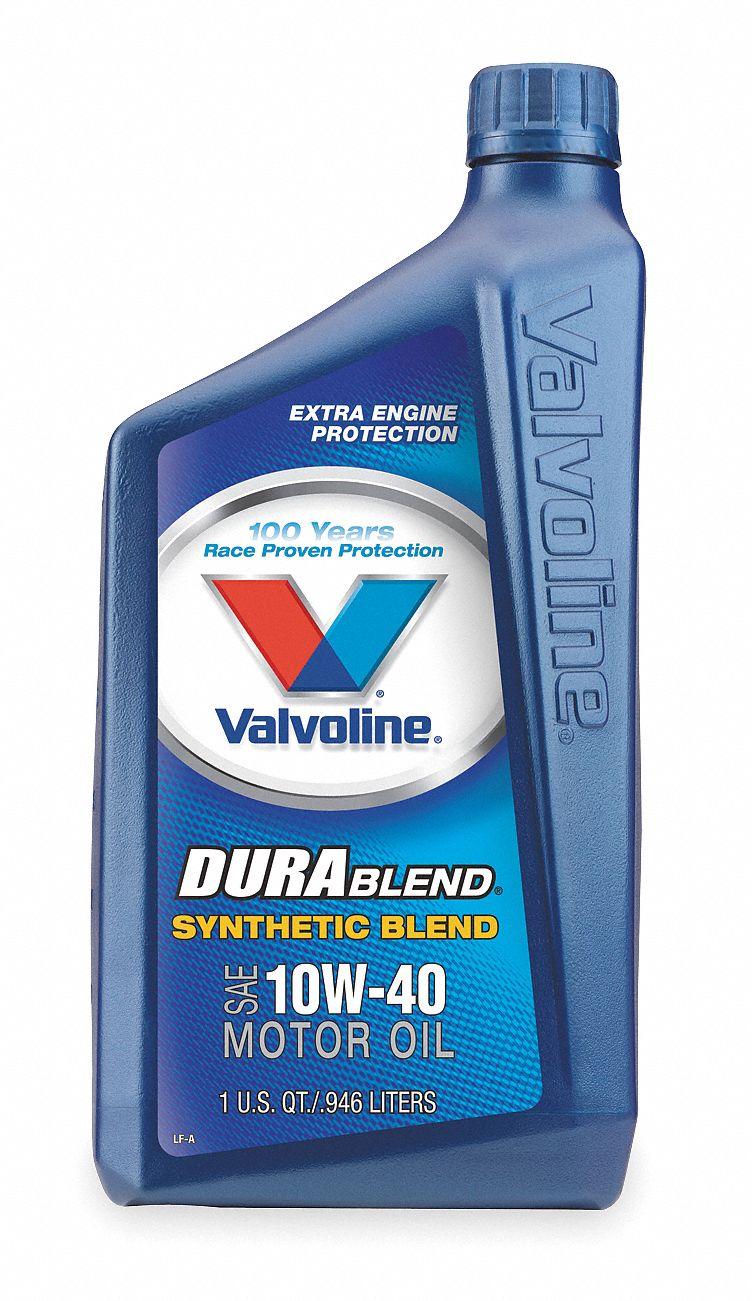 Valvoline durablend synthetic blend 10w40 1 qt 1ucb2 for Valvoline motor oil test
