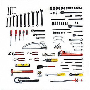 SAE Railroad Tool Set, Number of Pieces: 107, Primary Application: Pipe Fitter